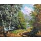 Живопись по номерам Тропинка в лесу, 40x50, Hobruk, U8024