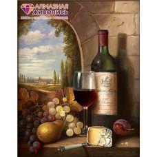 Мозаика стразами Шато Марго, 40x50, полная выкладка, Алмазная живопись