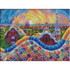 Мозаика стразами Парк Гуэль, 40x30, полная выкладка, Алмазная живопись