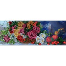 Набор для вышивания бисером на шелке Гордость садовника, 25x65, Fedi