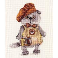 Набор для вышивания крестом Басик бариста, 10x14, Алиса
