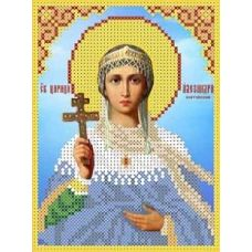 Набор для вышивания бисером Святая Александра, 12x15,8, Каролинка