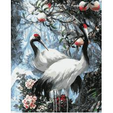 Живопись по номерам Японские журавли, 40x50, Hobruk, HS0462