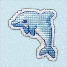 Набор для вышивания крестом Значок-Дельфин, 4,2x4,2, Овен