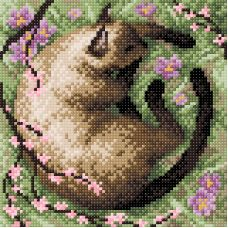 Алмазная мозаика В тени сакуры, 20x20, полная выкладка, Brilliart (МП-Студия)