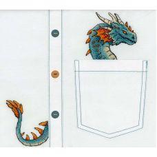 Набор для вышивания крестом по водорастворимой канве Благородный дракон, 7x8, Жар-Птица (МП-Студия)