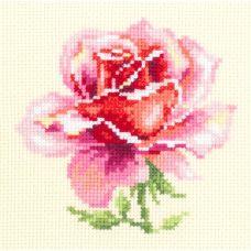 Набор для вышивания крестом Розовая роза, 11x11, Чудесная игла