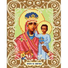 Канва с рисунком Богородица Призри на смирение, 20x25, Божья коровка