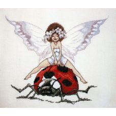 Набор для вышивания крестом Божья Коровка, 19x24, НеоКрафт