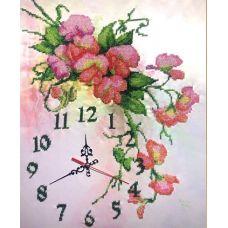 Набор для вышивания бисером на шелке Часы Нежность, 30,5x38, Fedi