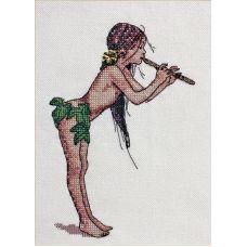 Набор для вышивания крестом Волшебная флейта, 13x18, НеоКрафт
