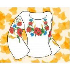 Набор элементов для вышивания на сорочке, водорастворимый флизелин КБФ-01, Каролинка