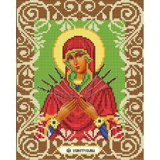 Канва с рисунком Богородица Семистрельная, 20x25, Божья коровка