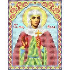 Набор для вышивания бисером Святая Алла, 13x18, Каролинка