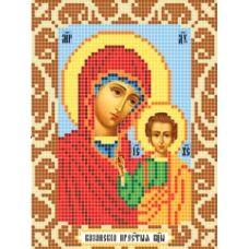 Канва с рисунком Богородица Казанская, 12x16, Божья коровка
