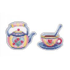 Набор для вышивания крестом Магнит Приятного чаепития-2, 9x8 7x7, Овен