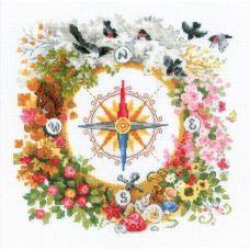 Набор для вышивания крестом Компас, 30x30, Риолис, Сотвори сама