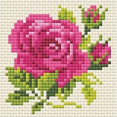 Алмазная мозаика Розочка, 10x10, полная выкладка, Риолис