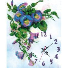 Набор для вышивания бисером на шелке Часы Вьюнок, 32x40, Fedi