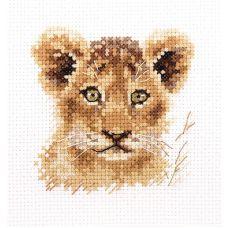 Набор для вышивания крестом Животные в портретах. Львенок, 8x8, Алиса
