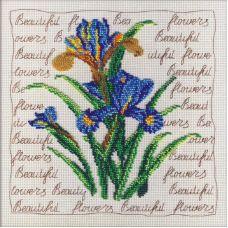 Набор для вышивания бисером Ирисы, 25x25, МП-Студия