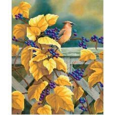 Рисунок на габардине Виноградная лоза, 50x40 (35x28), МП-Студия, Г-015