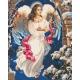 Живопись по номерам Рождественский ангел, 40x50, Hobruk, U8022