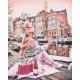 Живопись по номерам Девушка с вином у канала, 40x50, Hobruk, U8013