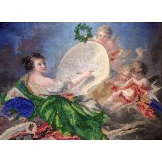 Набор для вышивания бисером на шелке Аллегория живописи, 32x44, Fedi