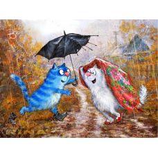 Живопись по номерам Заботливый кот, 40x50, Paintboy, GX21047