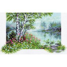 Набор для вышивания бисер-нитки Райский уголок, 28x37 (19x31), Матренин посад