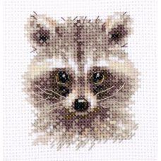 Набор для вышивания крестом Животные в портретах. Енотик, 7x7, Алиса