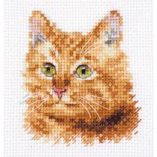 Набор для вышивания крестом Животные в портретах. Рыжий кот, 8x8, Алиса