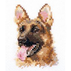 Набор для вышивания крестом Животные в портретах. Овчарка, 6x8, Алиса