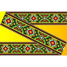 Декор. Рисунок на водорастворимом флизелине КФО-008, 5x40 см, Каролинка