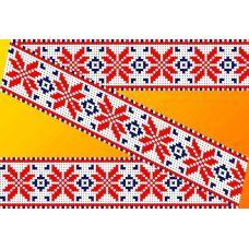 Декор. Рисунок на водорастворимом флизелине КФО-003, 5x40 см, Каролинка