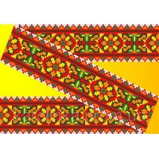 Декор. Рисунок на водорастворимом флизелине КФО-007, 5x40 см, Каролинка