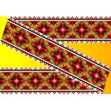 Декор. Рисунок на водорастворимом флизелине КФО-010, 5x40 см, Каролинка