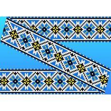 Декор. Рисунок на водорастворимом флизелине КФО-001, 5x40 см, Каролинка