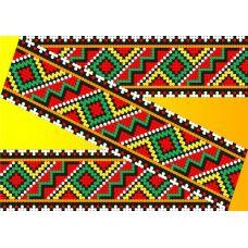 Декор. Рисунок на водорастворимом флизелине КФО-009, 5x40 см, Каролинка