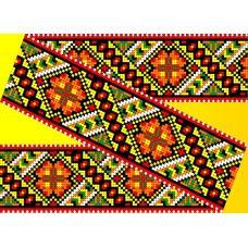Декор. Рисунок на водорастворимом флизелине КФО-006, 5x40 см, Каролинка