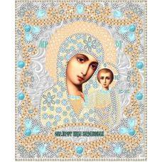 Ткань для вышивания бисером Богородица Казанская, 15x18, Конек