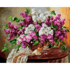 Живопись по номерам Сирень на столике, 40x50, Paintboy, GX24768