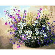 Живопись по номерам Полевые цветы в корзинке, 40x50, Paintboy, GX24767