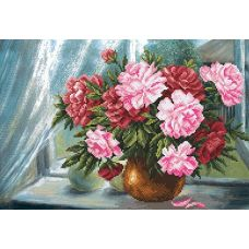 Набор для вышивания бисером Цветы радости, 37x49 (27x39), Матренин посад