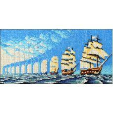 Набор для вышивания Иллюзия парусники, 18x38, Вышиваем бисером