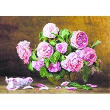 Набор для вышивания бисером Розовый аромат, 37x49 (27x38), Матренин посад