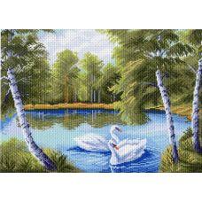Рисунок на канве Тихая заводь, 37x49, Матренин посад