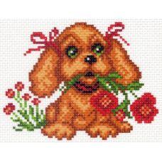Рисунок на канве Мой щенок, 16x20 (9x12), Матренин посад