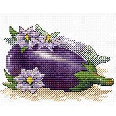 Набор для вышивания крестом Яркий баклажан, 11x8,5, Жар-Птица (МП-Студия)